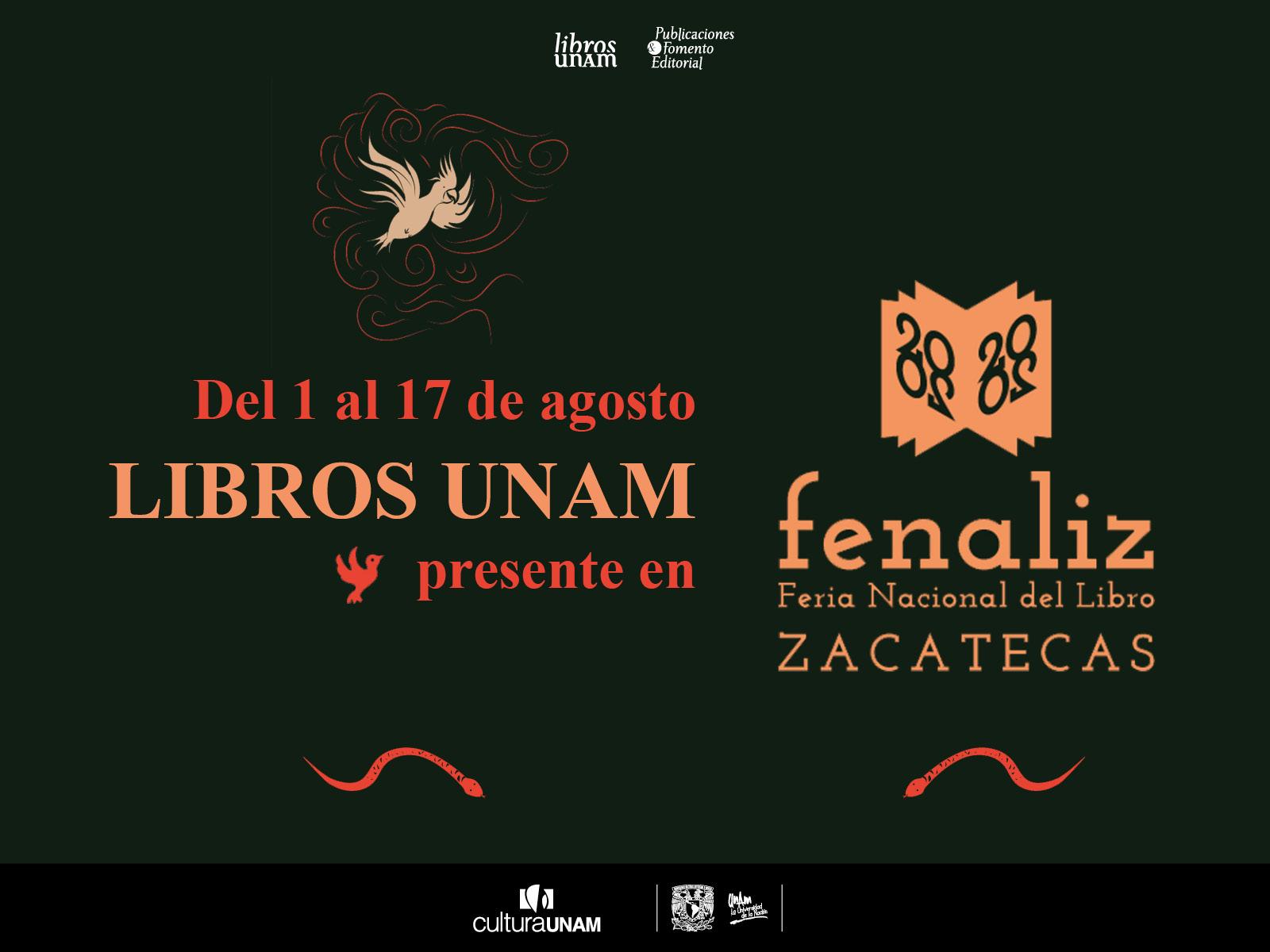 Libros UNAM en Feria Nacional del Libro Zacatecas