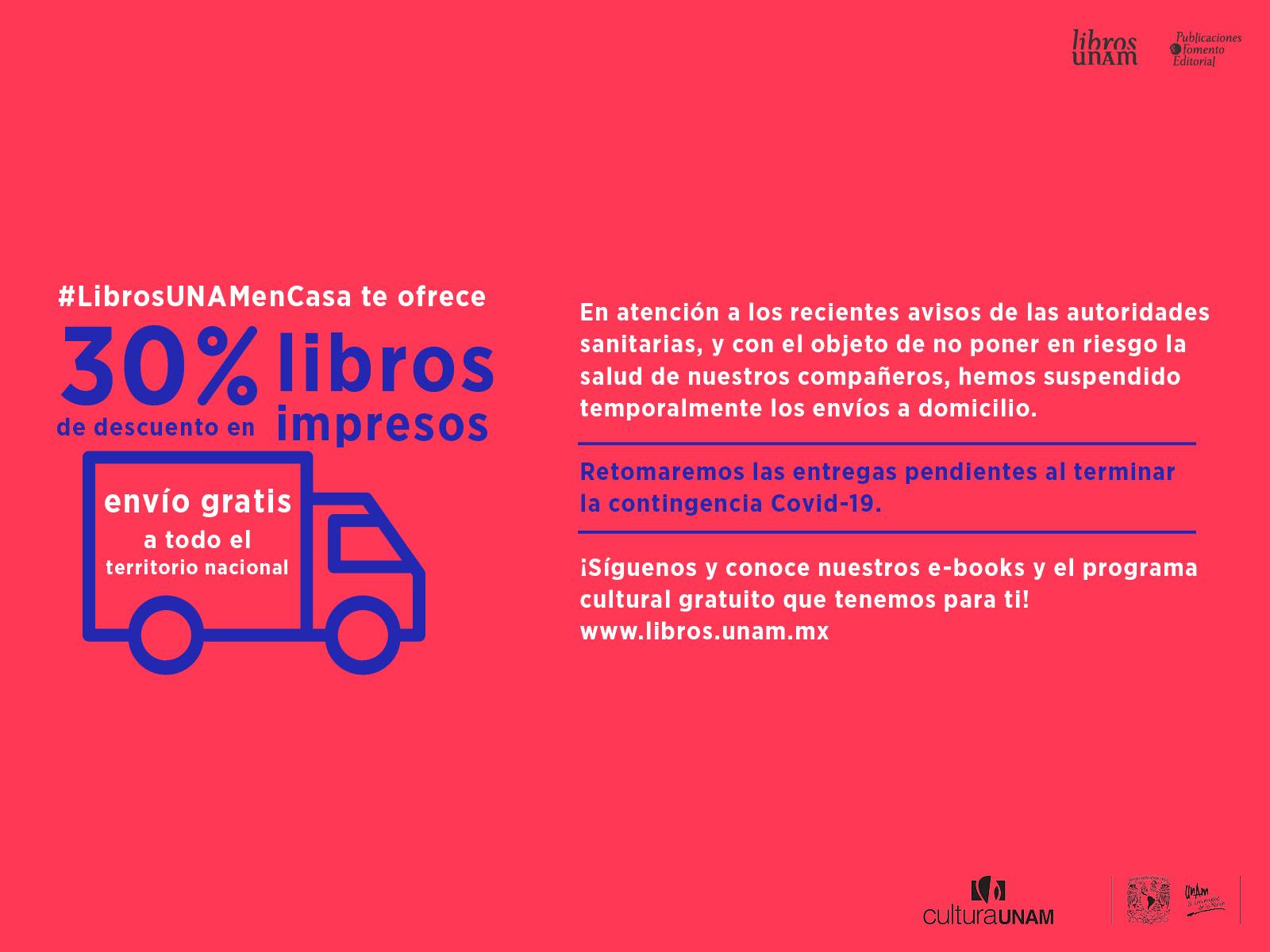 Libros UNAM en casa con descuento
